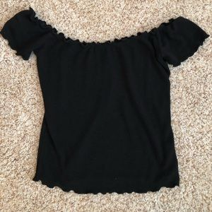 Black PacSun off the shoulder ruffle top